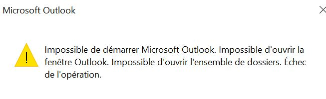 tuto  impossible d u0026 39 ouvrir outlook car le fichier   pst